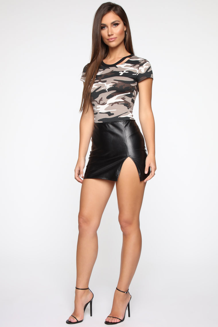 Searching For You Bodysuit - Grey Camo