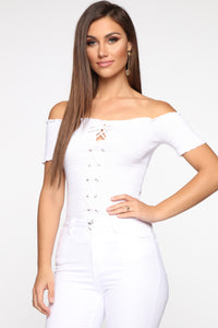 Bellami Short Sleeve Top - White