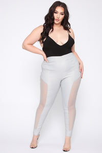 Danielle High Rise Skinny Pants - SIlver Angle 1