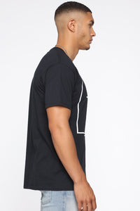 Party Short Sleeve Tee - Black/White