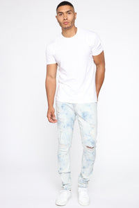 Hustlin Skinny Jean - Bleach Blue Wash Angle 3