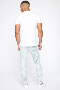 Hustlin Skinny Jean - Bleach Blue Wash Angle 6
