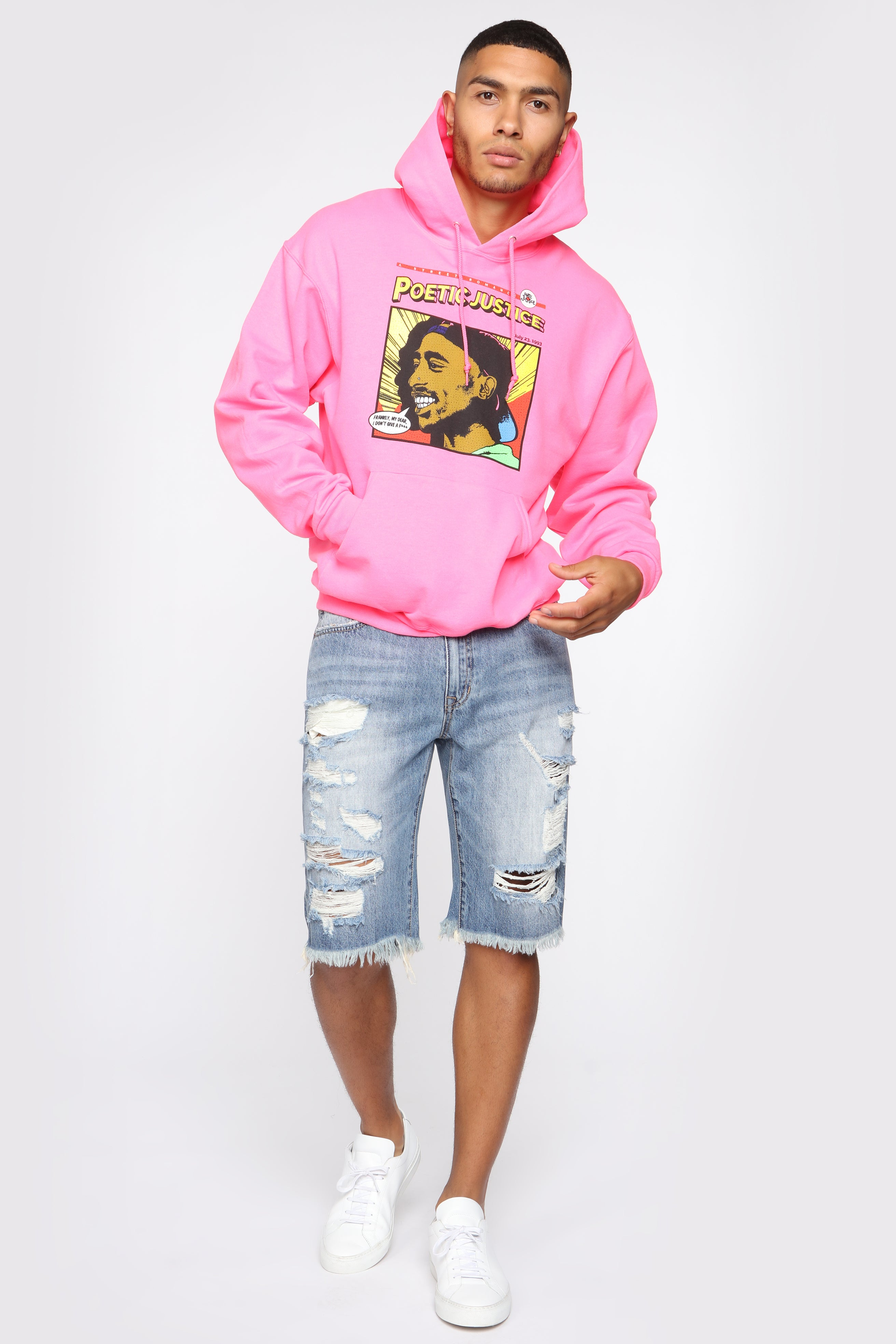 9c4b39f2c Poetic Justice Hoodie - Pink/combo
