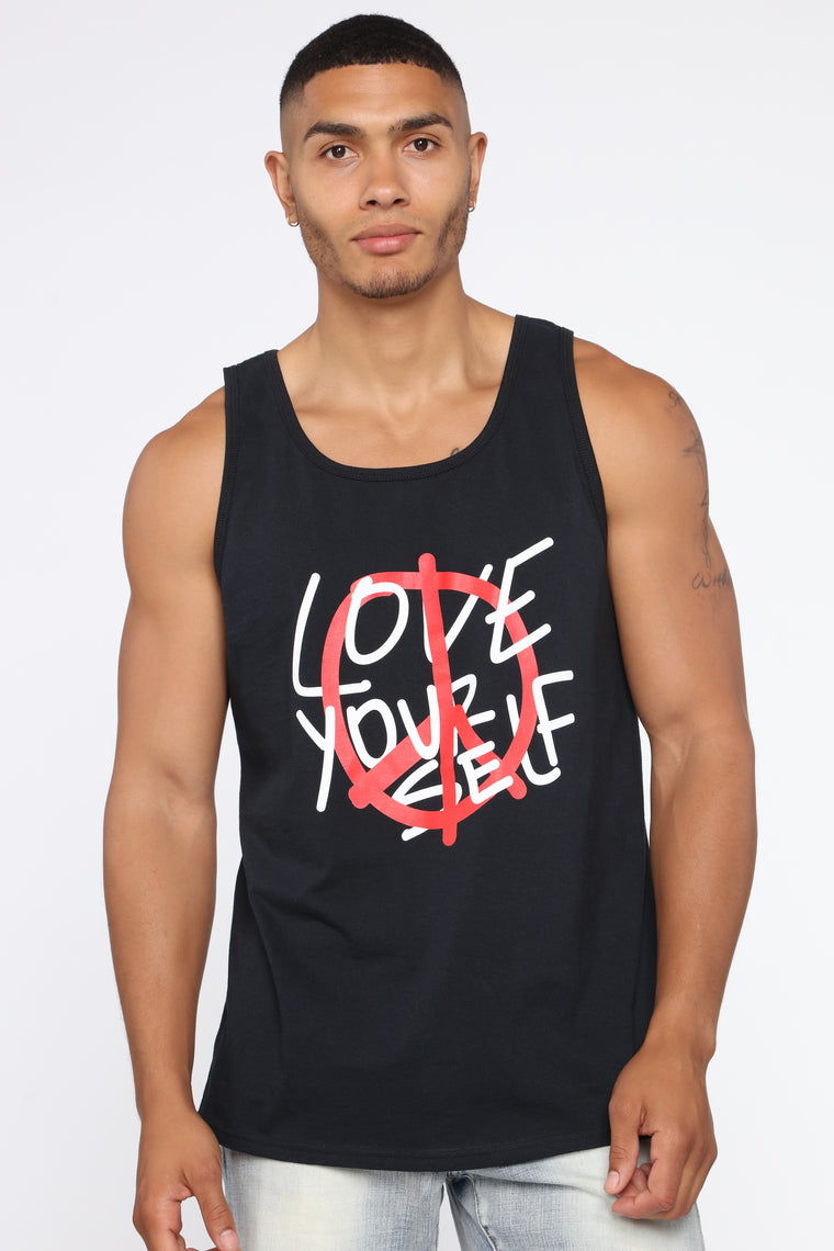 Love Yourself Tank Top - Black/Red