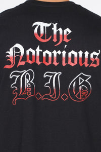 B.I.G. Short Sleeve Tee - Black/Red