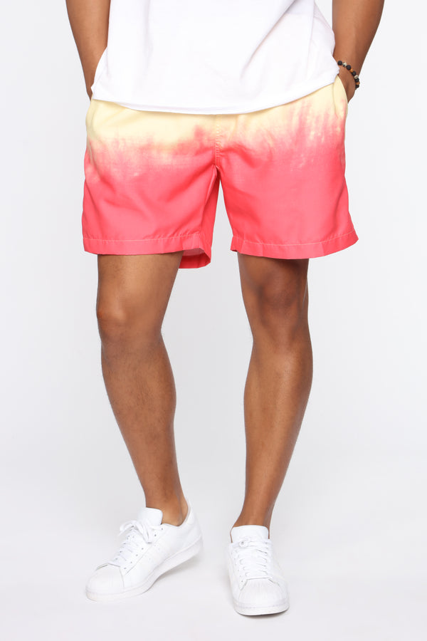 Color Melt Volley Swim Shorts   Red/combo