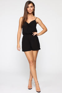 Looking Good Romper - Black Angle 2
