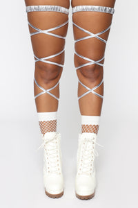 Rage Til Sunrise Leg Wrap Set - Silver