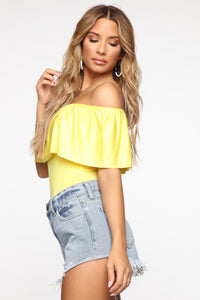 Happy Hour Bodysuit - Yellow