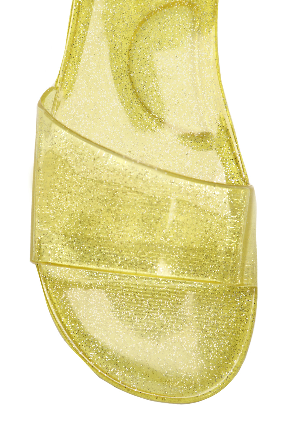 Jelly Of My Glitter Slides - Yellow