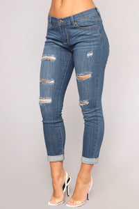 Feeling This Way Skinny Jeans - Dark Wash