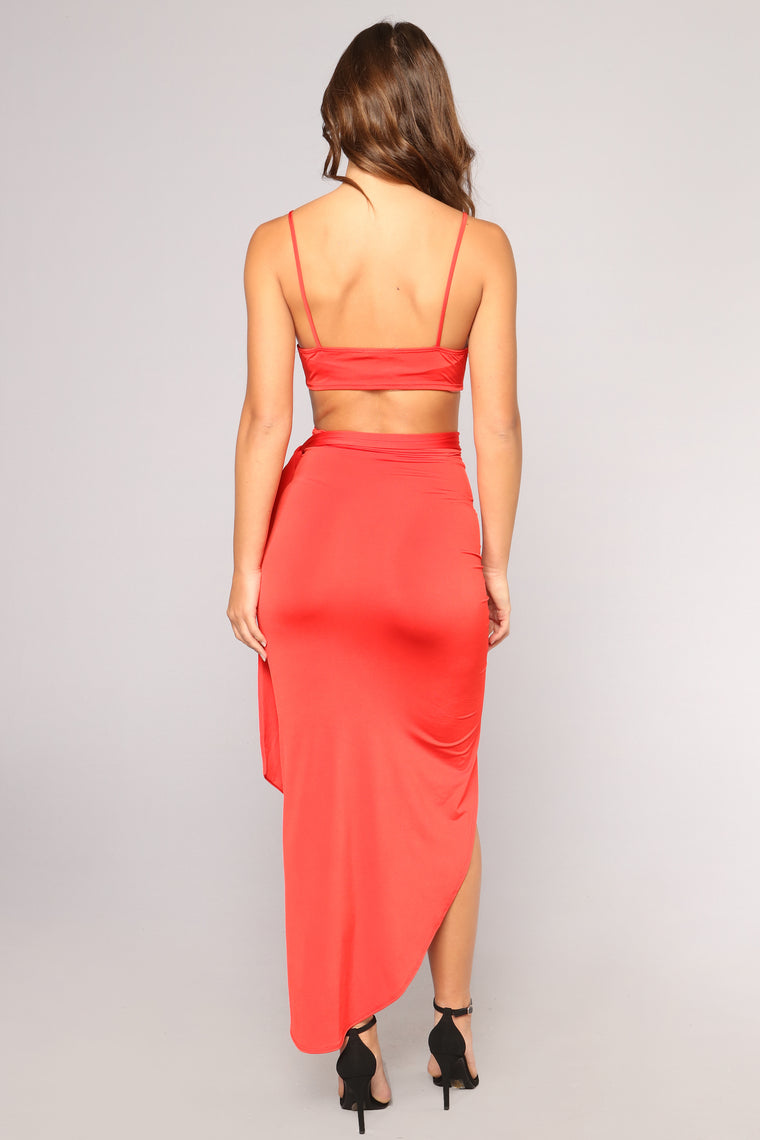 Always On Your Mind Maxi Dress - Red