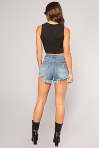 Tequila Por Favor Crop Top - Black