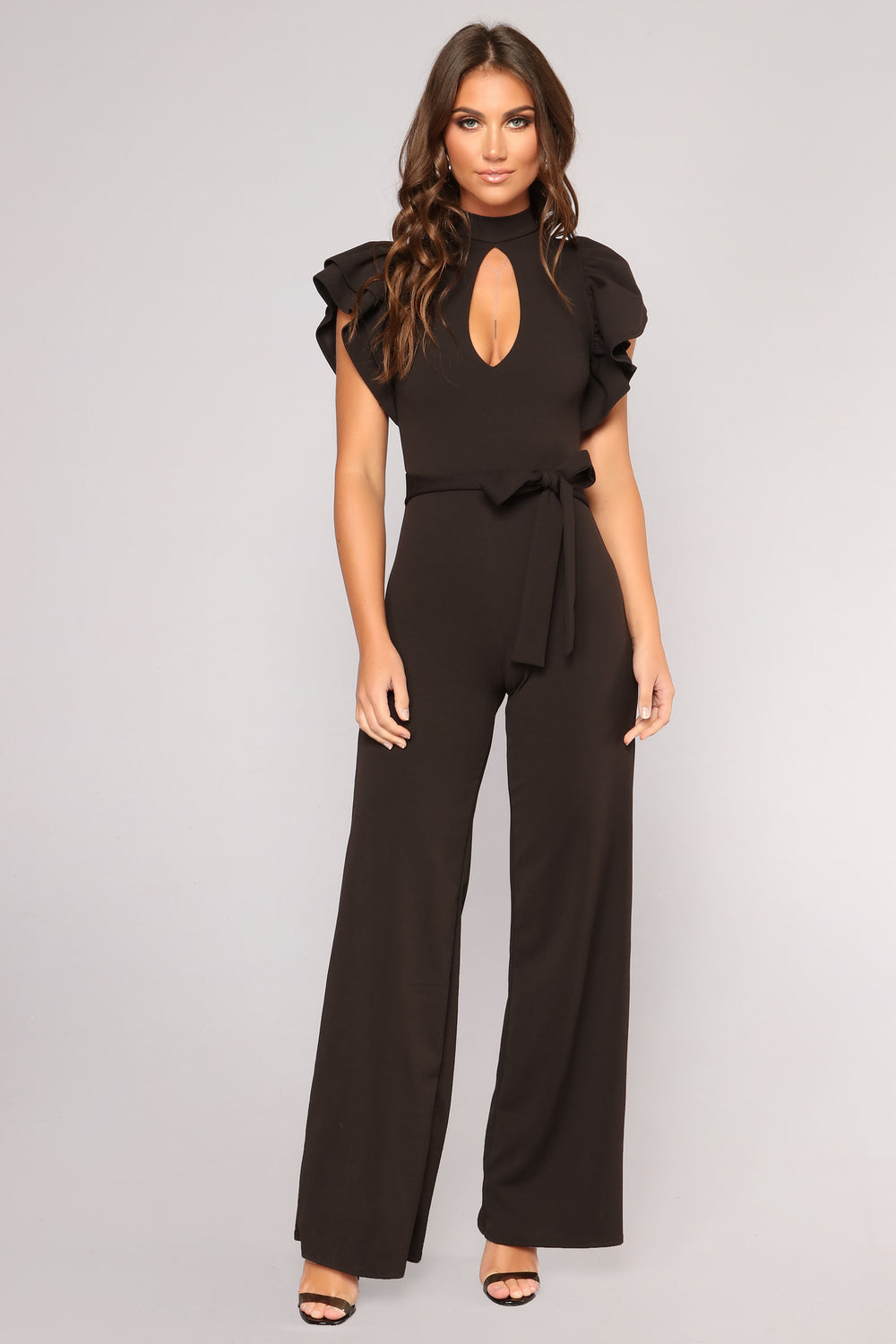 Charmane Ruffle Jumpsuit - Black