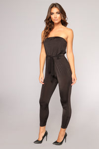 Let Your Guard Down Jumpsuit - Black