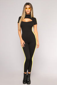 Davis Colorblock Jumpsuit - Black/Yellow
