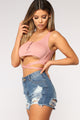 Be Happier Crop Top - Mauve