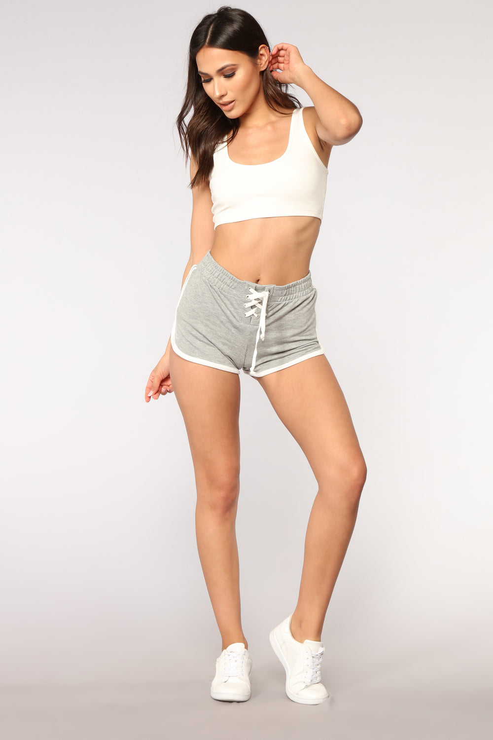 Run To You Dolphin Shorts - Grey