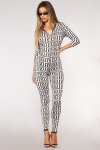 Shape Of You Jumpsuit - White