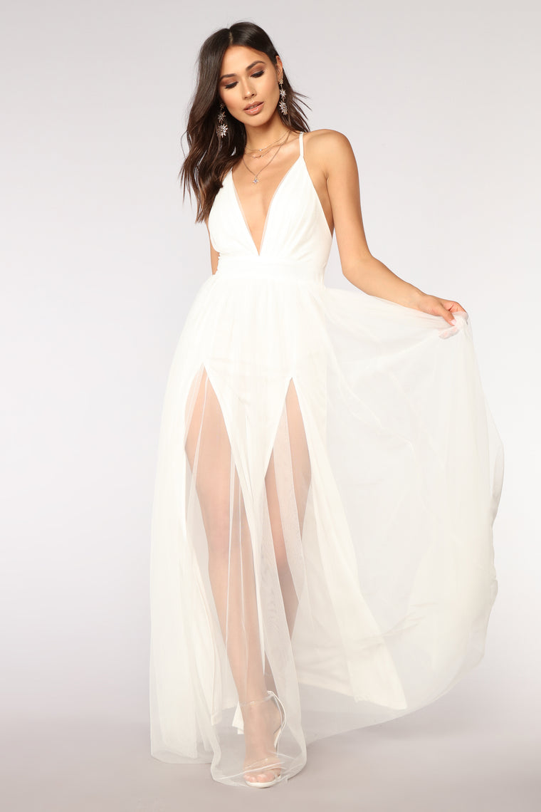 On The Runway Maxi Dress - White