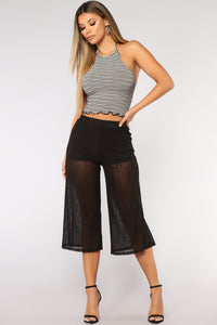 See Right Through You Crop Pants - Black