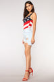 All American Girl Bodysuit - Red/combo
