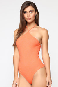 With Someone New Bodysuit - Orange Angle 1