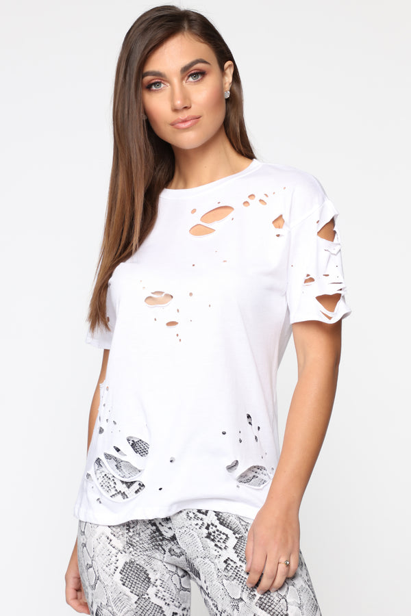 48d986125 Always in Trouble Tee - White