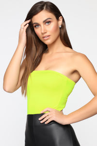 Always Radiant Tube Top - Neon Yellow