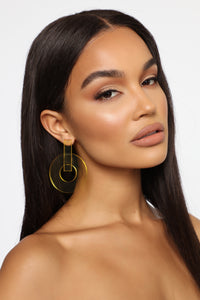 Clear Things Up Drop Earrings - Yellow