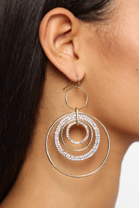 Rihanna Multi Hoop Earrings - Gold