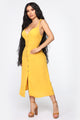 You Better Stay Midi Dress - Mustard