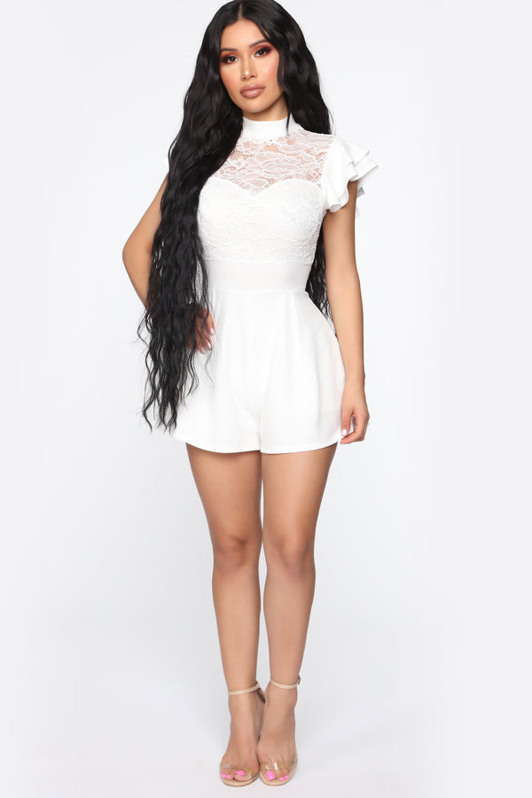 9c2d4e15304 Abba Lace Romper - Off White