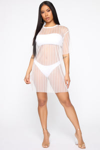 Ocean Views Swim Cover Up - White