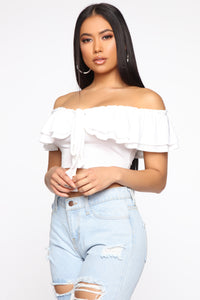 Crave Your Love Off Shoulder Top - Ivory