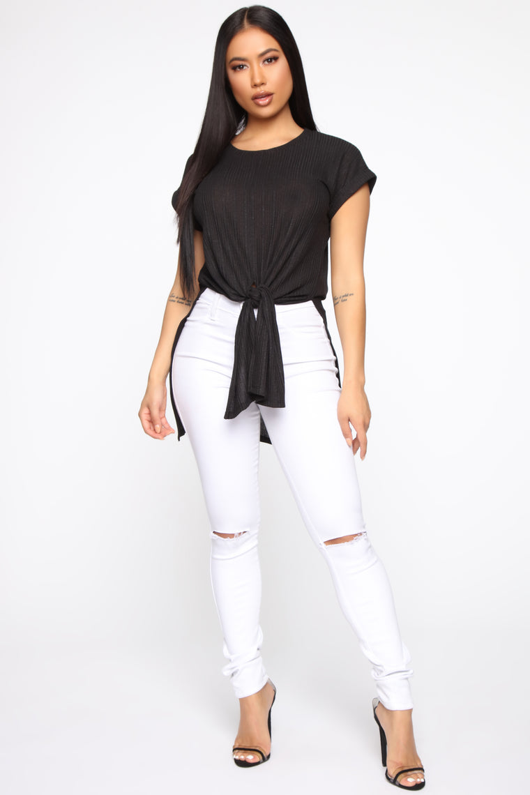 Sweet and Casual Top - Black