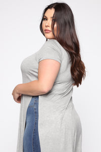 Under Exposed Tunic - Heather Grey