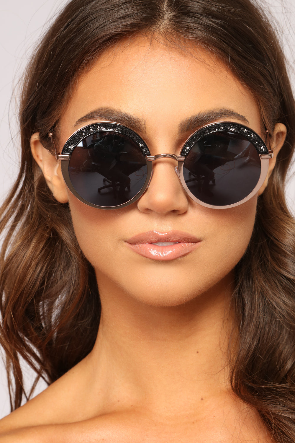 Sprinkle Me With Glitter Sunglasses - Copper