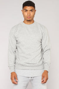 Kurt Crew Sweatshirt - Heathered Grey