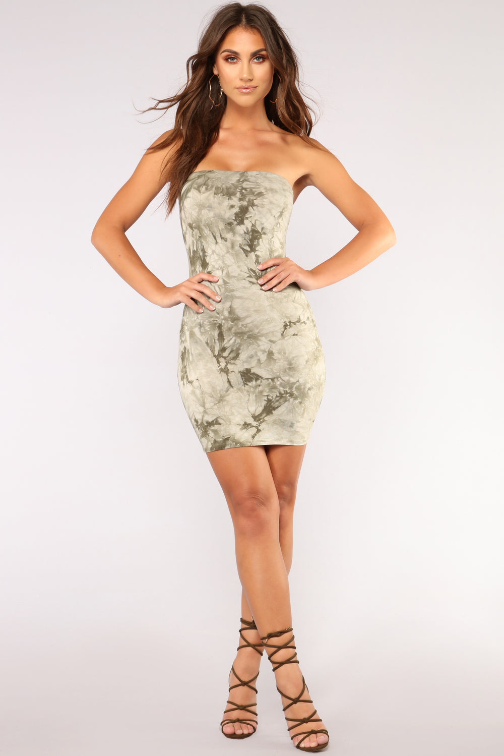 Commotion Tie Dye Dress - Olive