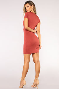 I'm Better Mini Dress - Marsala