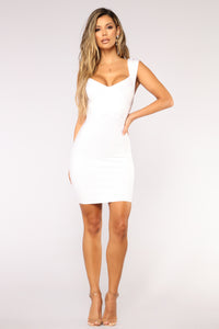 Normandy Bandage Dress - White