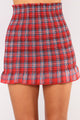 Little Darlin' Smocked Skirt - Red