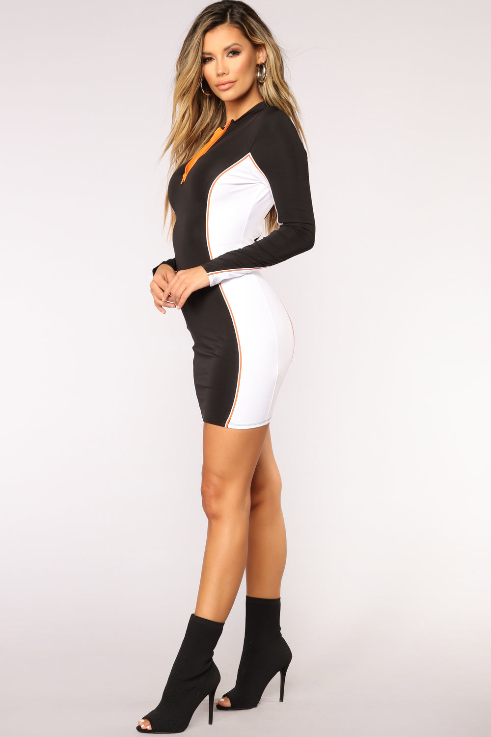 Remix To Ignition Colorblock Dress - Black