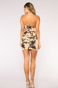 Tropical Heat Dress - Blush