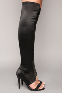 Estelle Over The Knee Heel - Black