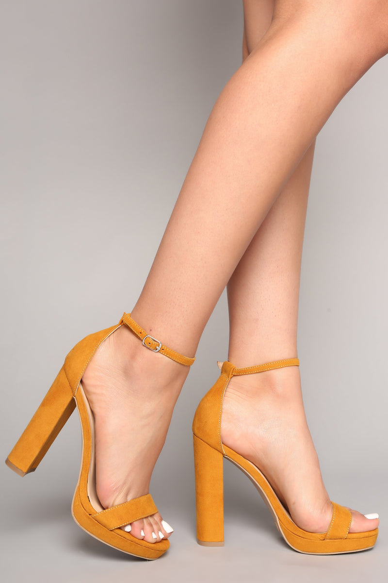 89fed266c79 Your Biggest Fan Heels - Yellow