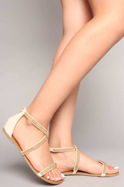 Watch Me Glow Sandal - Nude