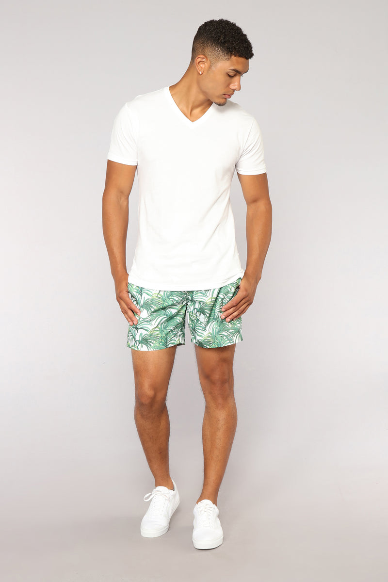 Jones Board Shorts - Jungle Leaves