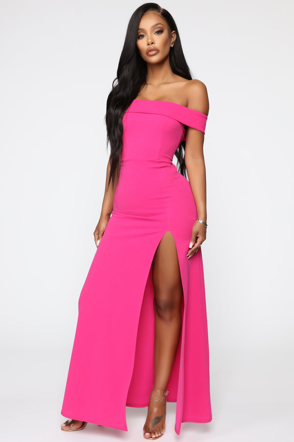 e3e6df1a48549 Here To Show Up Maxi Dress - HotPink